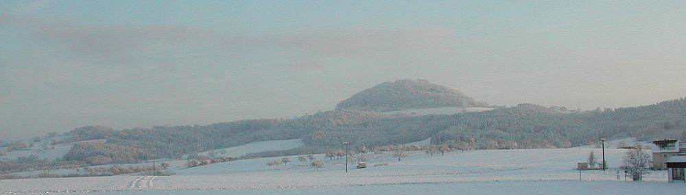 Mountain Hohenstaufen in winter