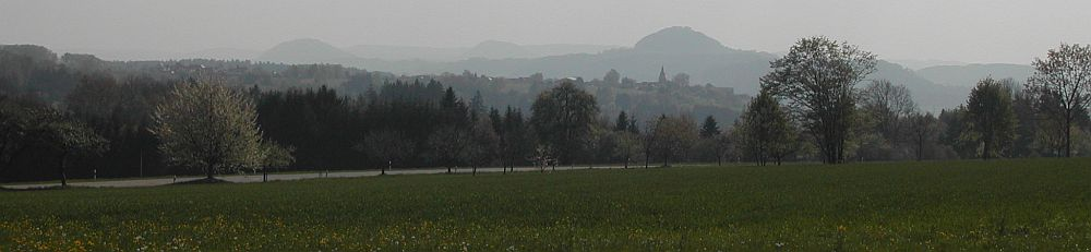 Mountain Hohenstaufen in spring