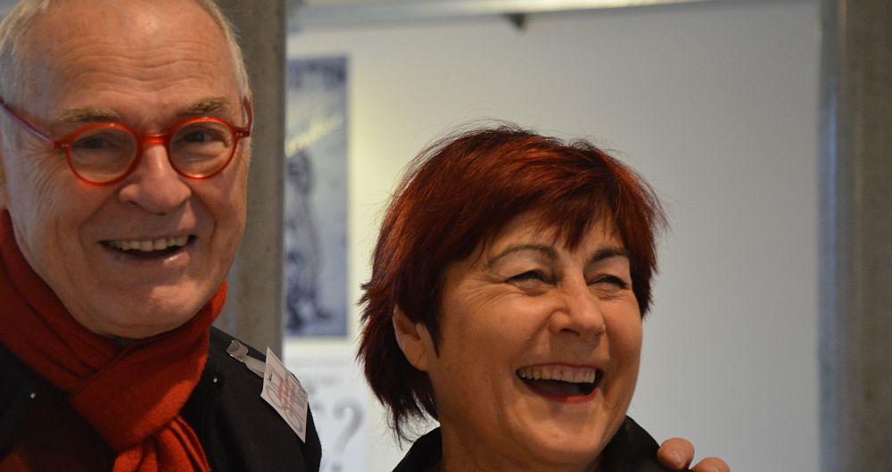 Heinz Stefan and Wibke Bartkowiak at Norddeutsche Handpressenmesse, Hamburg 2013