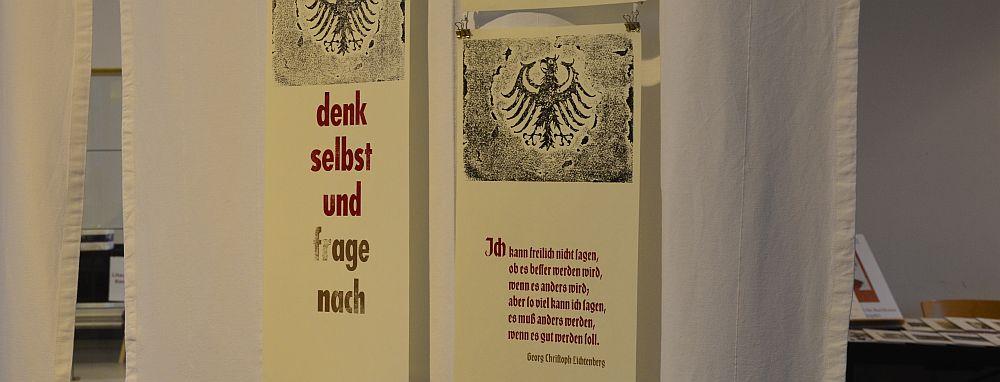 bleikloetzle's krisenseiten at Norddeutsche Handpressenmesse, Hamburg-Barmbek 2016
