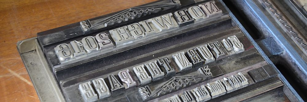 Metal type for keepsake