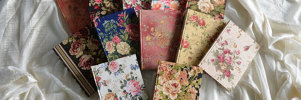 Book covers made from fabric